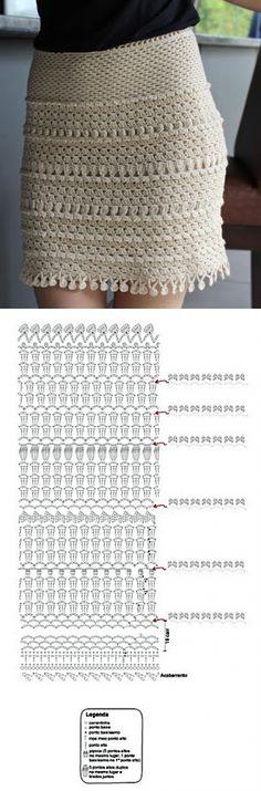 Irish crochet &: CROCHET SKIRT.