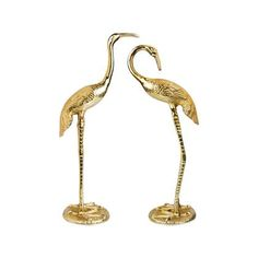 &k amsterdam Crane Bird Beeld set van 2 – Top Of The World Rockett St George, Crane Bird, Bird Statues, House Ornaments, Gold Material, Brass Color, Amsterdam, Cleaning Wipes, Home Accessories