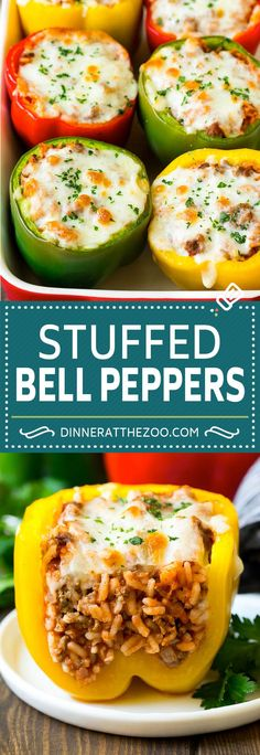 Nutritious Snack Tips For Equally Young Ones And Adults Stuffed Bell Peppers Recipe Stuffed Peppers Beef Dishes, Food Dishes, Easy Dinner Recipes, Easy Meals, Clean Eating Dinner Recipes, Easy To Make Dinners, Stuffed Pepper Soup, Stuffed Bell Pepers, Healthy Stuffed Bell Peppers
