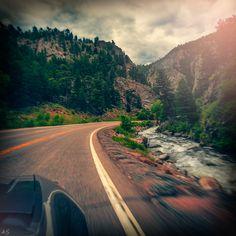 Riding along 119 / Boulder Canyon Dr., Middle Boulder Creek, Colorado. #Colorado © 2015 Andy Spessard Photography