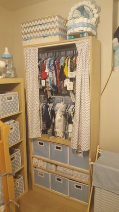 Fantastic baby nursery info are offered on our web pages. Read more and you wont be sorry you did. Baby Tips, Baby Room Decor, Bedroom Decor, Baby Closet Organization, Organization Ideas, Clothing Organization, 5 Shelf Bookcase, Bookshelf Closet, Bookshelf Storage