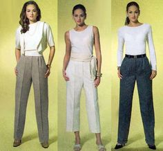 Misses Pleated Trousers Linen Capri Pants Wool Dress Slacks Sewing Pattern by TheOldLeaf, $8.95. #WorkWardrobe