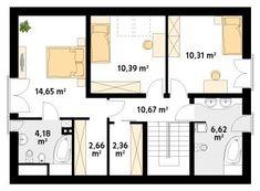 DOM.PL™ - Projekt domu MT Jesion CE - DOM ST9-76 - gotowy koszt budowy Floor Plans, Dom, Floor Plan Drawing, House Floor Plans