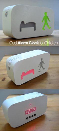 This alarm clock is a concept by Dutch firm Bacookie. It shows when it's time to get up and when it's time to sleep. | Bacookie ci dice in modo chiaro e semplice quando è ora di alzarsi e di fare la nanna... #clock #whatches #curiosity