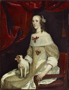 """""""Portrait of Odilia van Wassenaar"""" by Abraham Van den Tempel (1655-1660) at the Montreal Museum of Fine Arts, Montreal"""