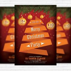Merry Christmas Party - Free Club and Party Flyer PSD Template http://exclusiveflyer.net/product/merry-christmas-party-free-club-and-party-flyer-psd-template/