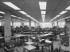 Osram Offices, Munich, Walter Henn, 1963: Bürolandschaft layout