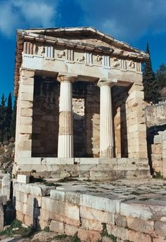 Treasury of Athenians at the Sancutary of Apollo, c. 530 BCE, Delphi, Greece