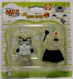 Hamtaro Hamutaro Hamster Figure & Accessories Set- Spat (Devihamu-Kun)