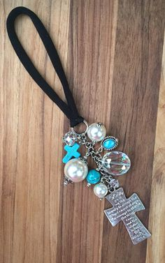 Serenity Prayer Cross Sobriety Gift Rearview by TheBadaBling