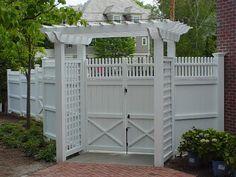 Vinyl Fence Gardening White Vinyl Fence Fence Design