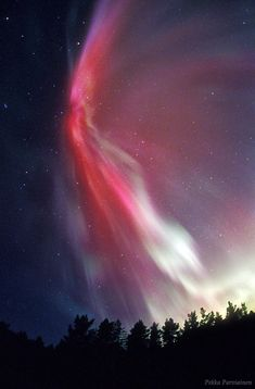 Northern lights from Finland. Photo by Pekka Parviainen