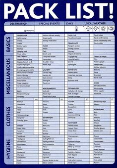 Pack List (downloadable) emergency-preparedness-first-aid - rugged-life.com