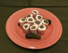 Sweet Gherkin Pickle Roll Ups