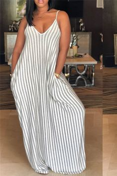 31.99 Cami Stripe Maxi Dress  dresses  maxidress  stripe  cami  plussize   59ff593bc831