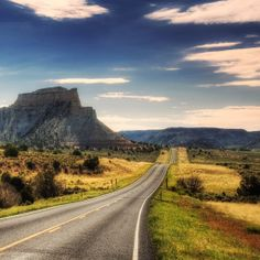 Desert Road Mountains #iPad #Wallpaper HD