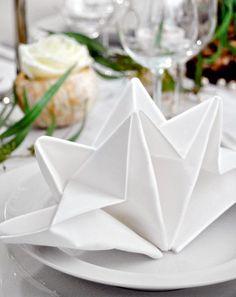 Napkin Fold - 35 Beautiful Examples of Napkin Folding <3 <3