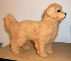 One of a Kind Needle Felted Golden Retriever