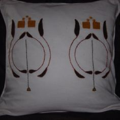 Arts & Crafts embroidered pillow.