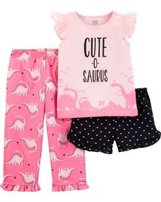 Child Of Mine Made By Carter's Child Of Mine By Carters Baby Toddler Girl Pajamas -Dino Pink Source by brendiitalsc Look pijama Toddler Girl Shorts, Toddler Girl Outfits, Toddler Fashion, Kids Fashion, Toddler Girls, Baby Girl Pajamas, Cute Pajamas, Toddler Pajamas, Baby Boy