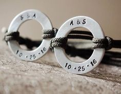 Personalized Couples bracelets his and hers couple bracelets