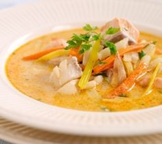 Norvege - Soupe de poisson à la crème (Soupe) - Recettes de Cuisine norvégiennes