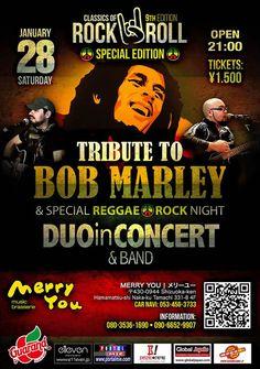 Balada com Tributo a Bob Marley com show ao vivo de Duo in Concert! Não perca!!!
