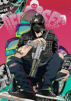wrench I want to drive on Golden Gate Bridge Wrench Watch Dogs 2, Watch Dogs 1, Watchdogs 2 Wrench, Movado Mens Watches, What Dogs, Fan Art, Dog Boarding, Video Game Art, Anime
