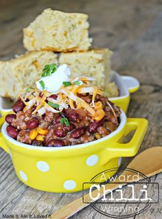 Chili and Cornbread is one of my husbands very favorite meals. Even though it usually stays pretty hot here until the end of October I alw...