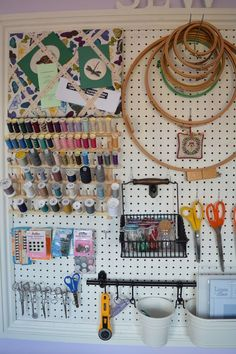 When I was planning my new sewing room I spent rather a lot of time browsing the internet looking for ideas, particularly for storage. I came across a post on Honeybear Lane about how to make a lar…