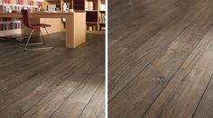 with Karndean Designflooring luxury vinyl. Product is Ignea with design strips between planks. Karndean Flooring, Floor Layout, Waterproof Flooring, Commercial Flooring, Luxury Vinyl, Creative Decor, Inspired Homes, Design Trends, Hardwood Floors