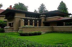 Meyer May House (1908) Grand Rapids MI Frank Lloyd Wright (1867-1959)