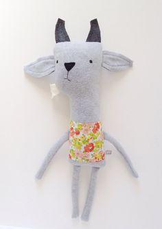 Plush Goat Friend Finkelstein's Center Handmade by finkelsteins, $46.00