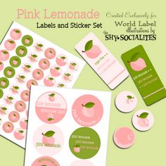 FREE printables - available in YOUR CHOICE of pink or yellow!!
