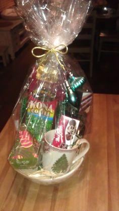 Coffee, Tea, Cookies & Candy Basket