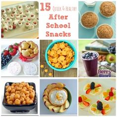 After School Snacky Ideas...or, in our case, ideas to send to school with her for her morning snack.