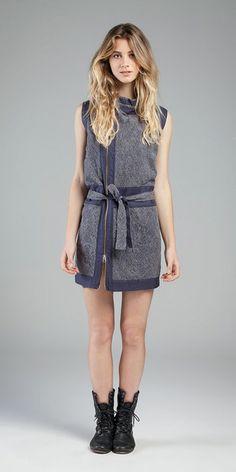 Vestido - Linen Paradiso e Renda Mantille #linho #renda #sportwear #movimentosilencioso