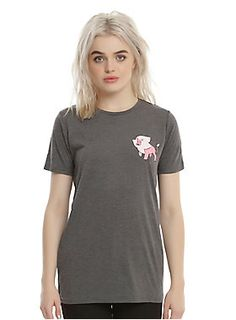 """Show off your love of <i>Steven Universe</i>and your allegiance to the Crystal Gems while keeping it low key. This dark grey heather tee a small Lion image on the front left chest. It's got a loose relaxed fit, so it's perfect for binge watching the next Steven-Bomb.<br><ul><li style=""""list-style-position: inside !important; list-style-type: disc !important;"""">65% polyester; 45% rayon</li><li style=""""list-style-position: inside !important; list-style-type: disc !important;"""">Wash col..."""