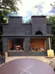 contemporary outdoor fireplace with pizza oven - Google Search