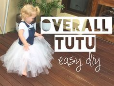 UPCYCLE DENIM OVERALL TUTU | DIY Kids Outfit - Mummy Maker