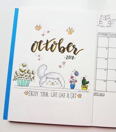 october bullet journal Welcome, October Have you got your bullet journal ready? Quote of the mont Bullet Journal And Diary, Bullet Journal Monthly Spread, Bullet Journal 2019, Bullet Journal Tracker, Bullet Journal Hacks, Bullet Journal Notebook, Bullet Journal Ideas Pages, Bullet Journal Layout, My Journal