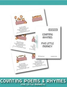 Five little monkeys jumping on the bed song is easy for your child to remember and an excellent way for children to start counting. Grab your mini book here
