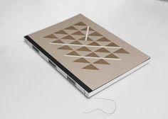 Notebook  Designer Notizbuch Schwarz von Stoff Schere Papier auf DaWanda.com