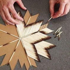 Weihnachtsstern mit Streichhölzer basteln