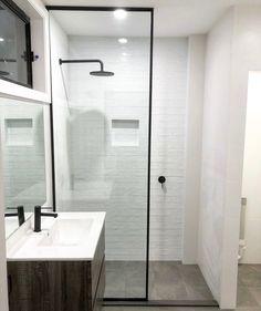 Budget Bathroom :: Home Depot Tile + Tub, Ikea Mirror + Vanity + ...