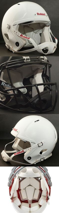 Helmets and Hats 21222: Adult Large Riddell Speed Football Helmet (Gloss White) With S2bd-Sw-Sp Facemask -> BUY IT NOW ONLY: $249.99 on eBay!