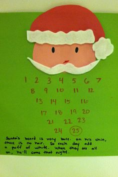 If my kids were smaller, and didn't already have 2 Advent calenders, I would totally do this. I think it's super cute.