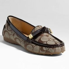 Coach Frida Loafer Sophisticated yet comfortable, tailored yet feminine.Signature jacquard fabric with patent leather trim. Rubber sole. Amazing condition. Only worn a couple of times. Coach Shoes