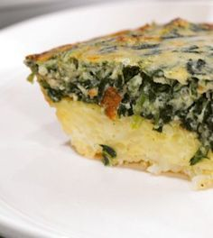 Clinton Kelly Spinach Hash Brown Quiche - Chew Recipes **had this at a party and it was awesome. Tho it was doubled and made in a large glass dish**