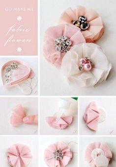 Fabric flowers  AAAndrejkAAA blog*: Nějaké DIY návody ;)*